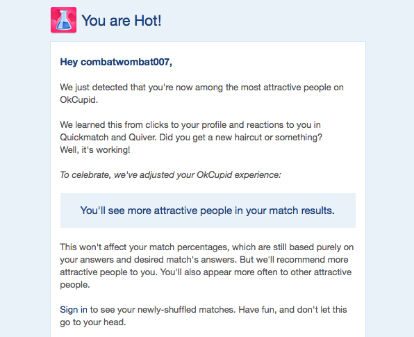 Witty first message online dating