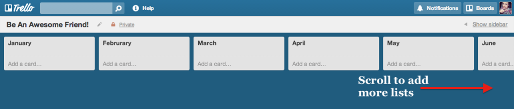 lists-by-month-trello